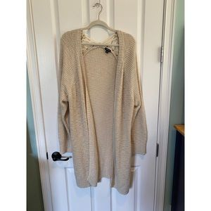 TORRID cream cardigan, size 4XL with lace up back